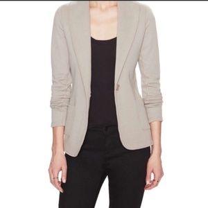 James Perse Shawl Collar Blazer Jacket: Khaki 1 XS